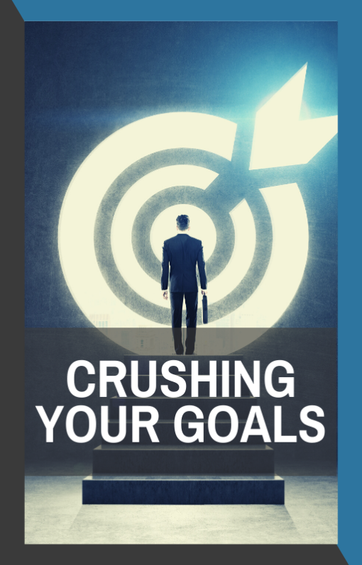 book cover for crushing your goals