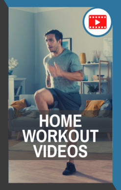 book cover of home workout videos