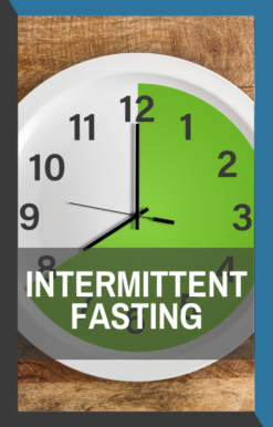 book cover for intermittent fasting