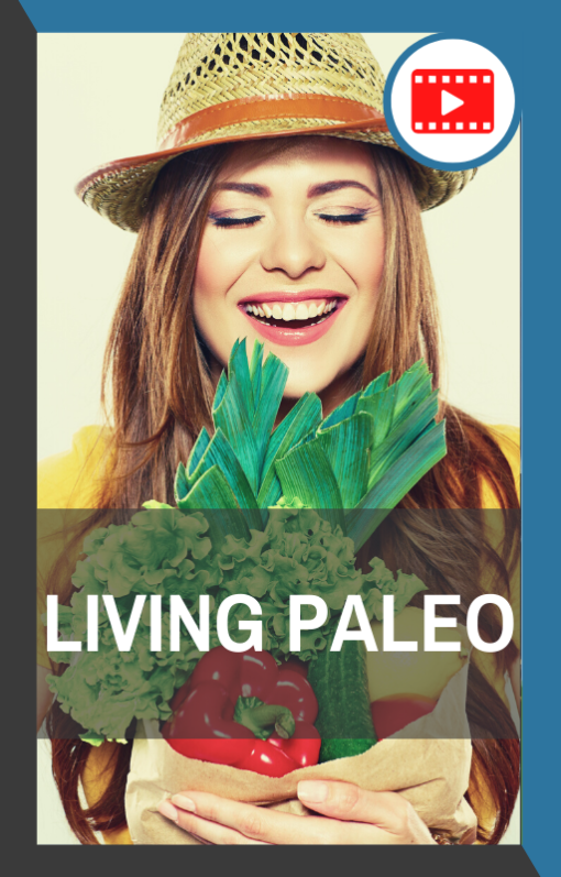 book cover of living paleo